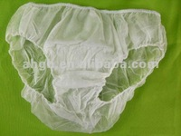Consumable non woven thongs/briefs/underware