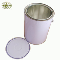 Plastic handle,white coating, 5L packaging cans,