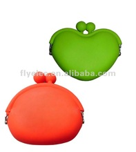 Heart shaped silicone purse wallets