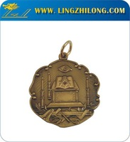 Wholesale custom masonic compass and ruler metal medals