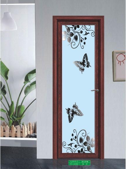 Glass design aluminium bedroom toilet bathroom interior for Aluminium bathroom door designs