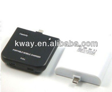 1900mAh Micro USB Portable external backup battery Charger For Blackberry HTC Sumsang Galaxy S2 i9100