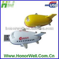 Plastic or Metal Plane shape usb flash memory free logo/usb flash drive
