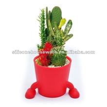 2012 the newest style modern decorative silicone flowerpot
