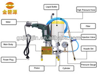 faster construction concrete crack injection machine