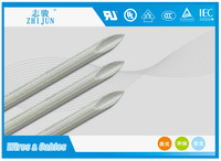300V 200C silicone coating fiberglass braided sleeving