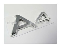chrome japanese car emblem/brand logo metal tag