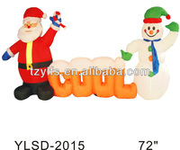 giant christmas inflatable animated santa and snowman /santa snowman cartoon for kids