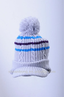 newly knitted winter korea visor hats