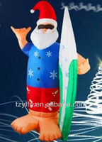 Inflatable Santa Claus sliding plate/christmas Santa clause surfing