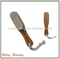 Pumice stone with wooden handle