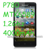 HOT!! 5'' mobile phone Lenovo P780 MTK6589 Quad Core with 4000mAh battery Android 4.2 RAM1G+ROM4G smartphone