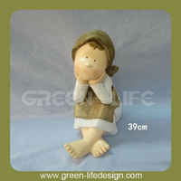 Resin outdoor children garden statues