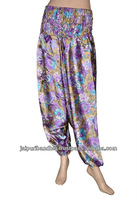 Indian Aladdin Style Harem Trouser Pants Long India Silk Trouser