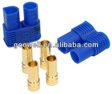 Hot sale high quality gold plated 3.5mm/5.0mm dual banana plug with EC5/EC3 plastic housing connector stecker