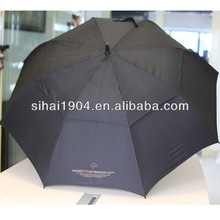 Wind-vented new sealed umbrella for golf balls
