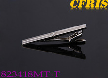 Wholesale plain silver tie clips with diamond