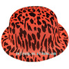Customized Carnival Leopard Grain Pattern Plastic Top Hat