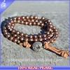Handmade Leather Jewelry Personalized Natural Pearl Bead Leather Bracelet