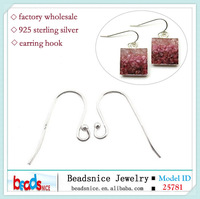 Beadsnice ID 25781 925 sterling silver hook earrings components for DIY earring
