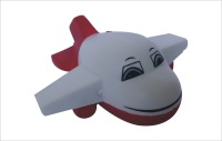 Soft Cartoon promotional gift/ PU toys plane/ stress helicopter toys