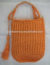 hot selling fashion crocheted tote bag for woman