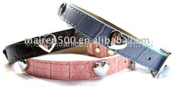 Beautiful PU leather Dog collars Pet collar Cat collar and leash for pet fashion