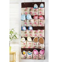 20 pockets non woven hanging shoes organizer
