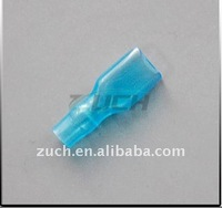 soft pvc blue and white cable wire end insulated connecting terminal sleeve