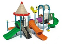 Small Plastic outdoor playground for kids (KYM--0501)