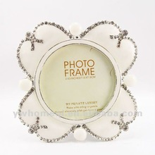 Wedding decoration Set with the diamonds ivory metal photo frame
