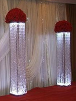 Tall Rectangle Hanging Crystal Wedding lead road for decoration