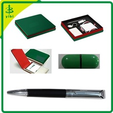 JD-X182 new arrival card holder and USB flashdrive car gift pen set