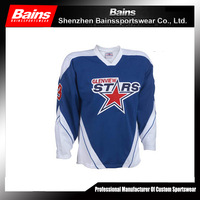 2015 best selling new design custom reversible hockey jerseys made in China