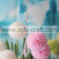 Much 16.5CM Clear Transparent Plastic Kite Wing Wedding Tree Beaded Prism Finding Craft50pcs