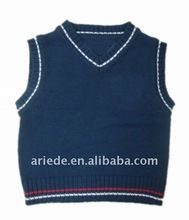 V-neck fashion baby sleeveless sweater