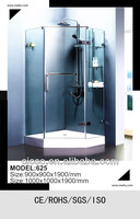 Frameless 8mm Tempered Glass Single Pivot Door FreeStanding Shower Enclosure cabina de ducha