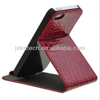 for iphone 5 Crocodile Flip Leather Case with stand