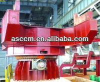 Ladle turret for steel billet continuous caster machine