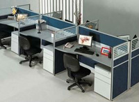 Office Partitions, Table and Chairs