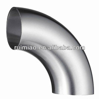 sanitary 22.5 degree 4 inch stainless steel elbow pipe fittings