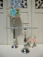 Tall silver flower stand , metal candle holder 4301S