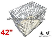 Deluxe metal Dog Cage crate in Silver with Metal Tray and Bedding