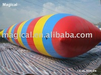 Inflatable water blob/air jumping bag
