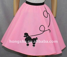 Women Pink Poodle Pretty Skirt HSK8009