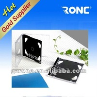 10.4mm transparent DVD Case with black tray