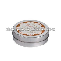 Round Metal Can For Lip Oil Packing gifts packing tin box