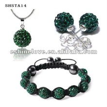 New Brand Dark Green Wedding Crystal Jewelry Set For Women SHSTA14