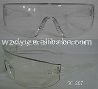 Protective UV400 polycarbonate safety glasses