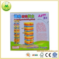 Colorful 90pcs Interest Game Wooden Folds High Toys
